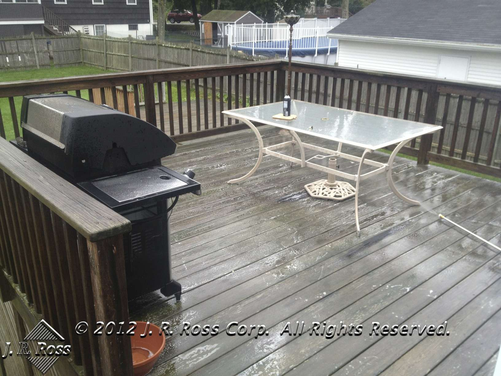 before deck stain