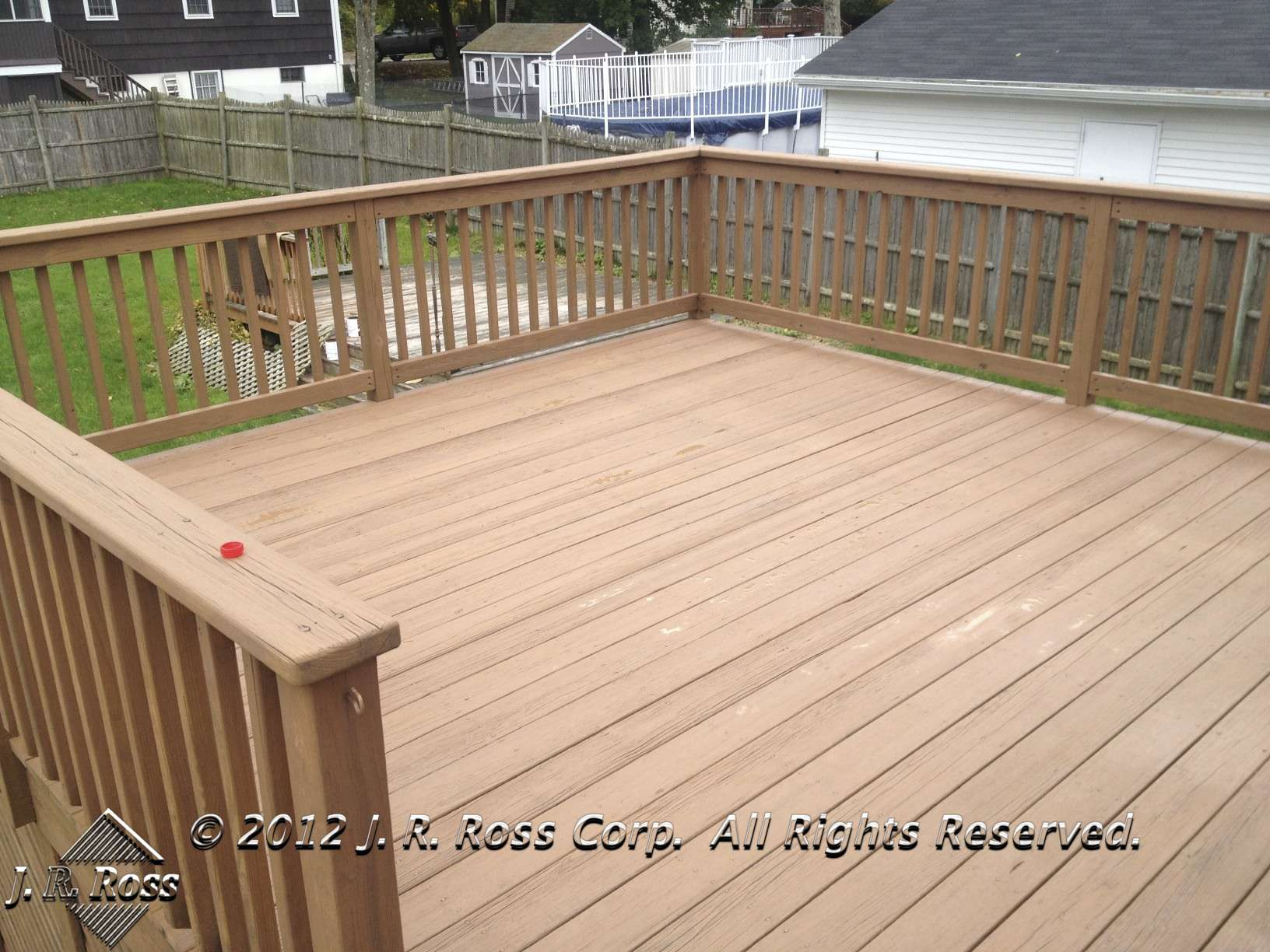 after deck stain